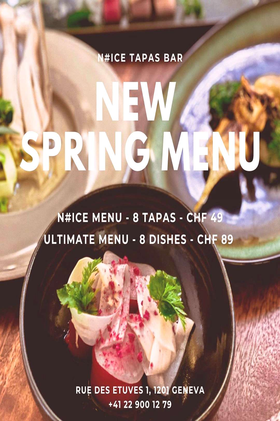 NEW * NEW * NEW ENG Our Spring Menu will be available from 3rd o