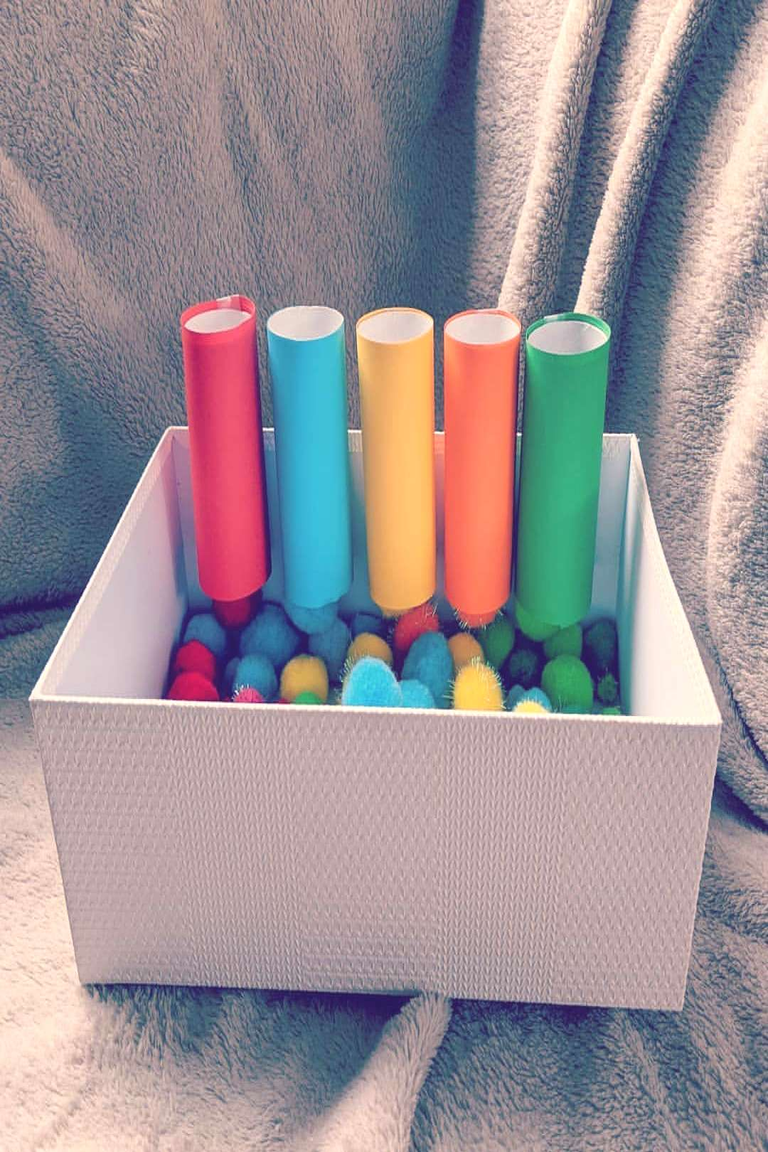 Pom Pom Pipes Suitable for ages 1-4 This little activity is made