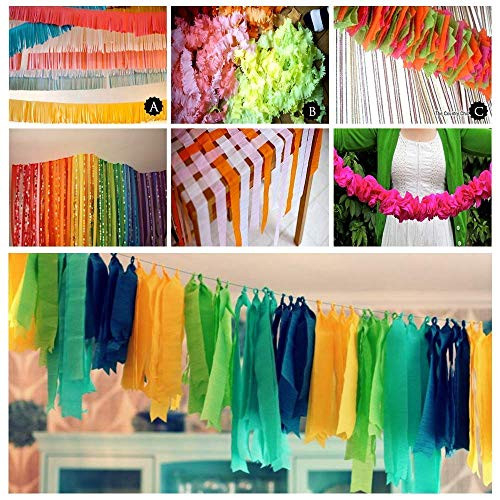 15 Rolls 405 Yard Party Streamers Backdrop Decorations Red