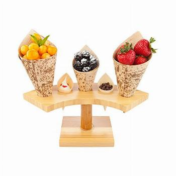 10-inch Crescent Food Cone and Sushi Hand Roll Display