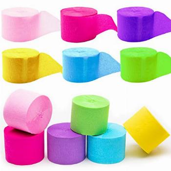 12 Rolls Crepe Paper for Easter 82ft Crepe Paper Streamers
