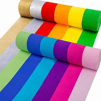 Coceca 12 Rolls Crepe Paper Streamers in 12 Colors for