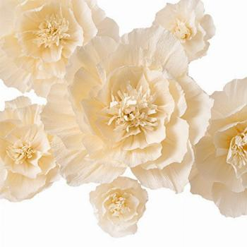 Crepe Paper Flowers Decoration for Wall, Artificial Flowers