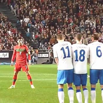 Cristiano Ronaldo doing what he does best