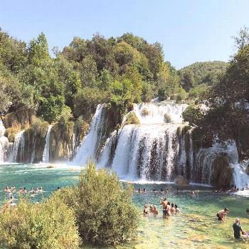 Krka National Park and Waterfall should form part of your Croatia