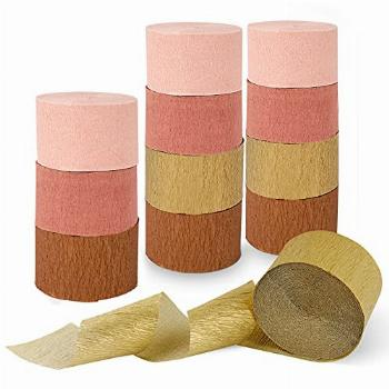 Streamers Party Decorations, 12 Rolls 984 Feet Rose Gold