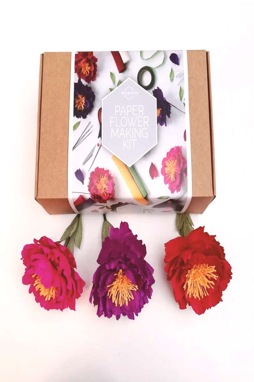 A follower released a paper flower making kit this week that look