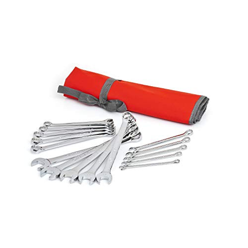 Crescent 15 Pc. 12 Point Metric Combination Wrench Set with