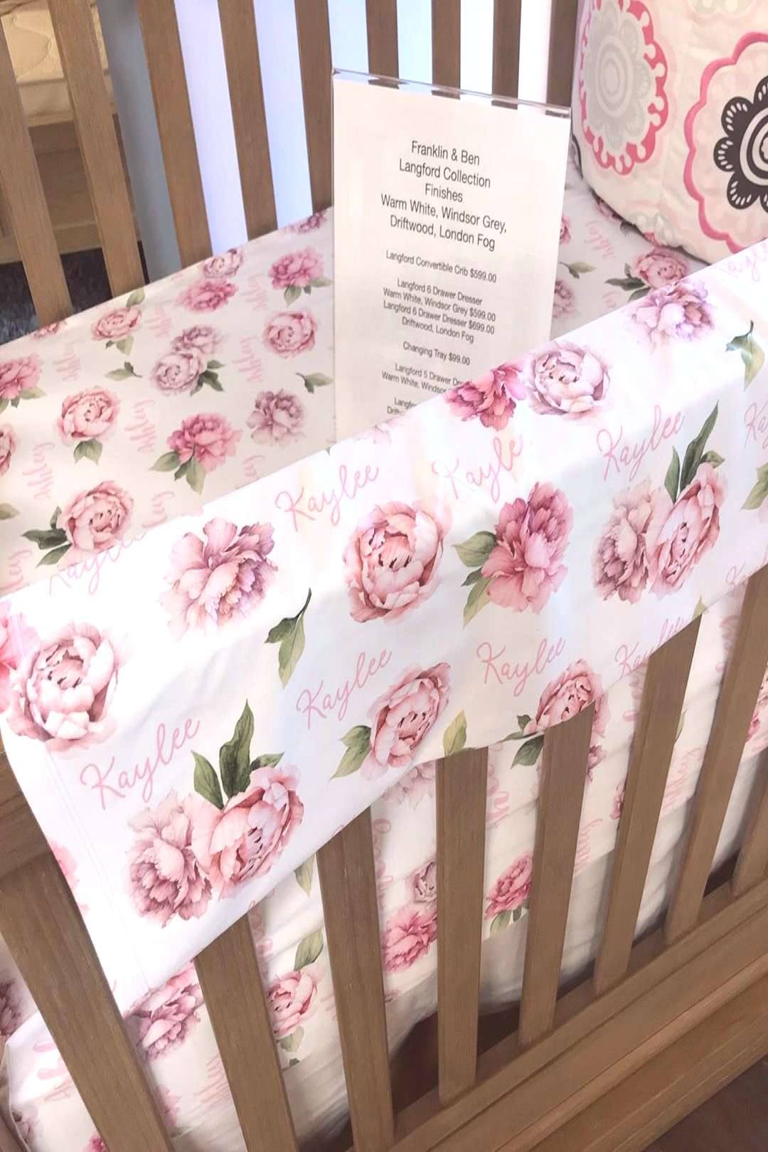 Fabulous crib linens personalized just for your little one!!! So