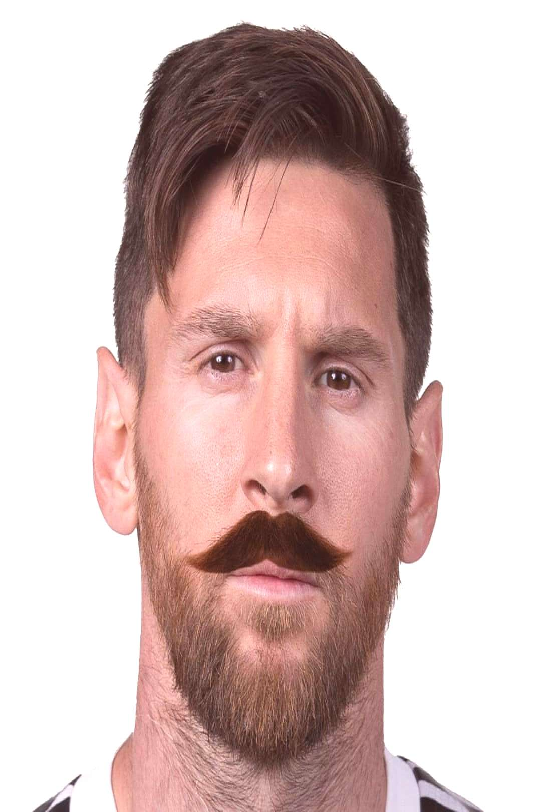 Famous footballers with cool moustache - - - #messi #lionelmessi