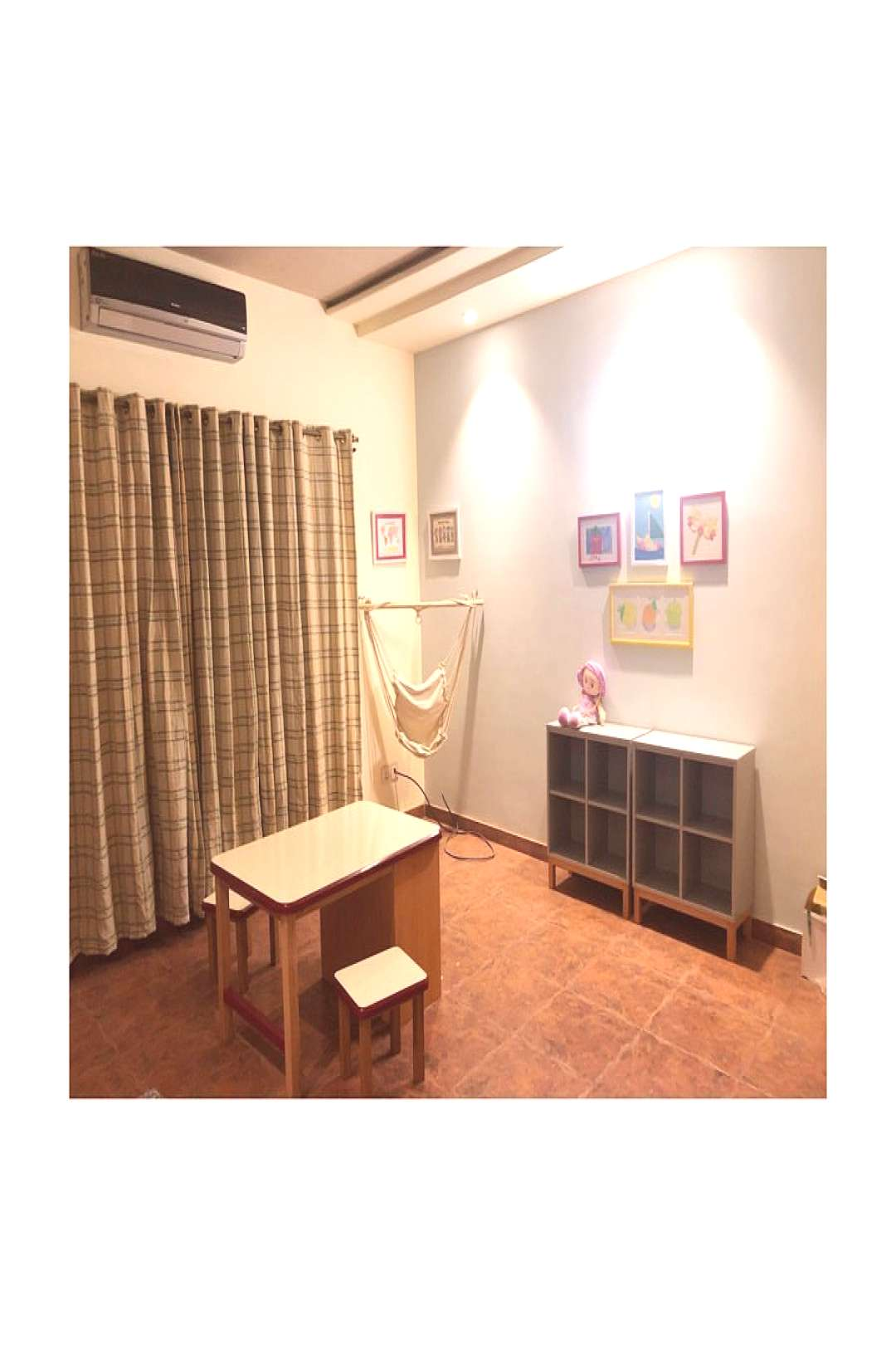 Kids activity room, swipe to see the before amp after shots of the