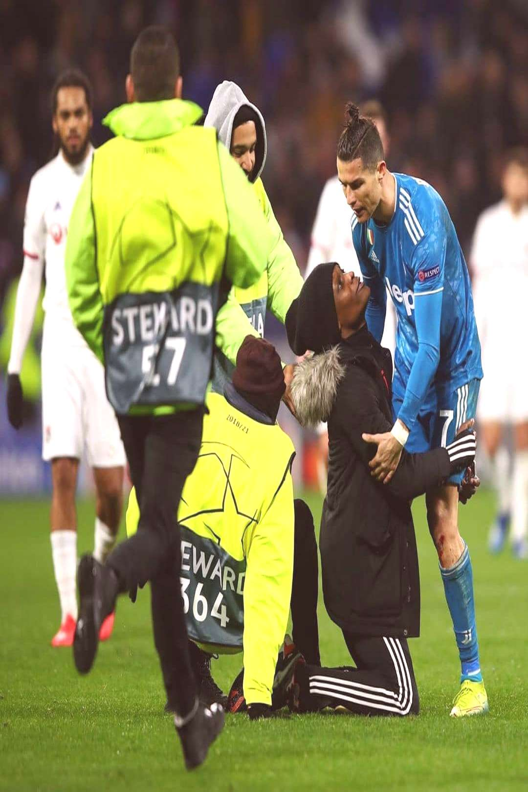 Pitch Invader during the Game. Fan of Cristiano Ronaldo