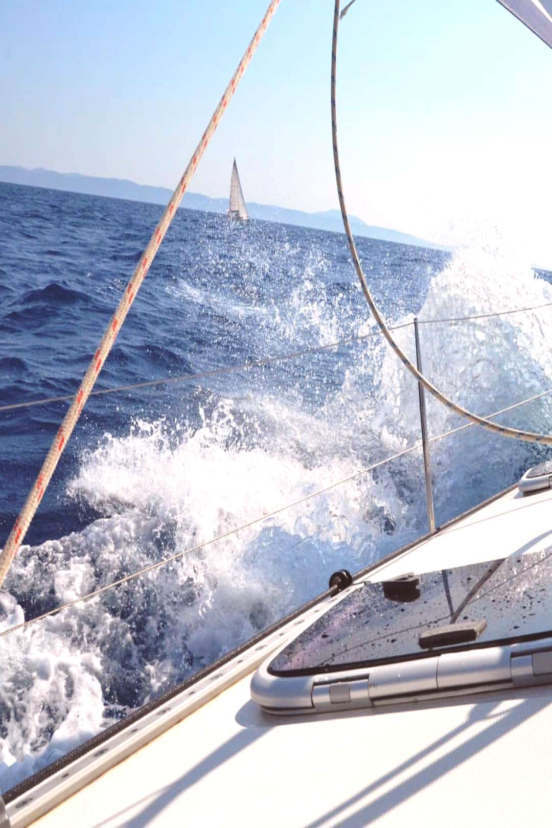Sailing - There is nothing more beautiful than moving just with t
