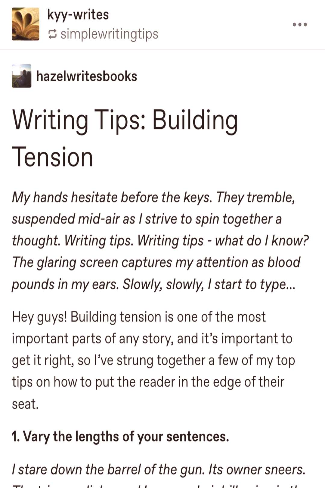 Suspense is what keeps readers wanting more. -- Tags #write #wri