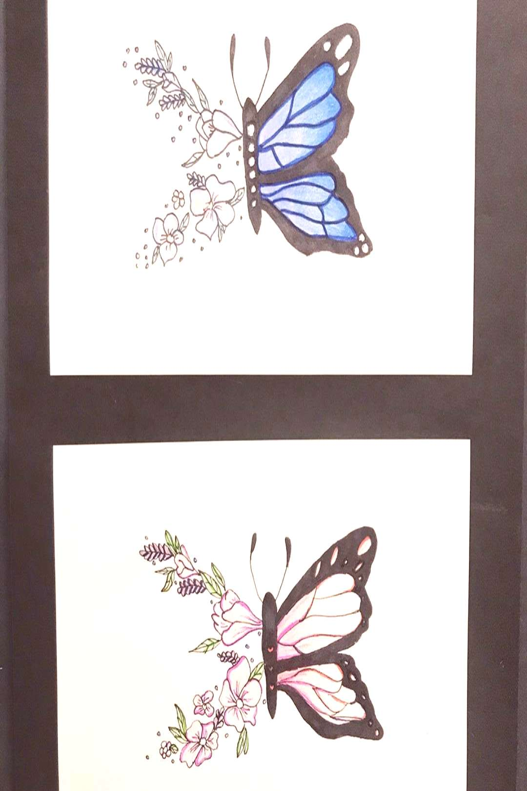 These look so good! Mixed media butterfly project created by our