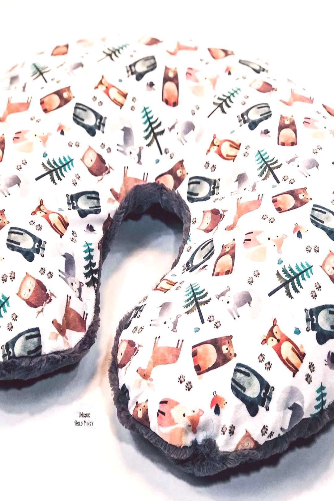 Woodland Animals Nursing Pillow is now in stock Ready To Ship!